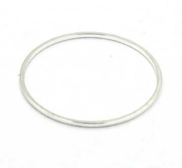 10pcs x 25mm Silver plated closed ring